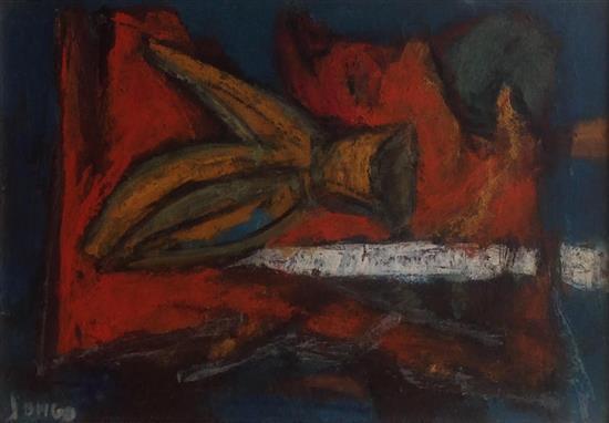 Marcel Janco 1895-1984 (Israeli) Abstract shapes oil on board