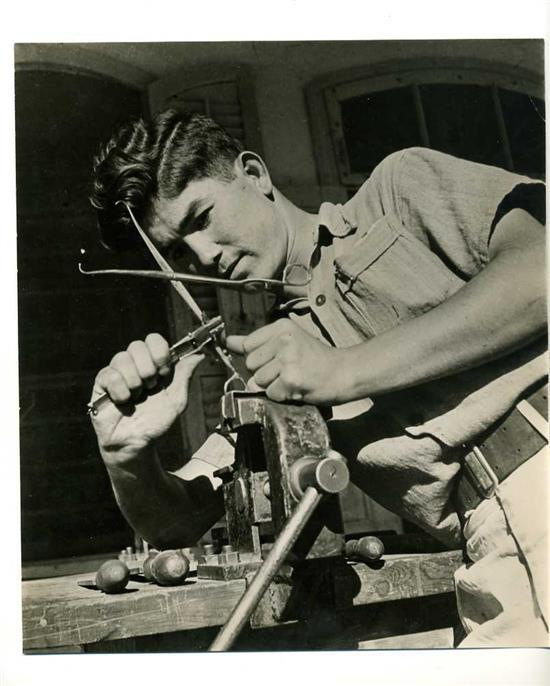 Boris Carmi 1914 - 2002 (Russian, Israeli) Shoemaker original photograph