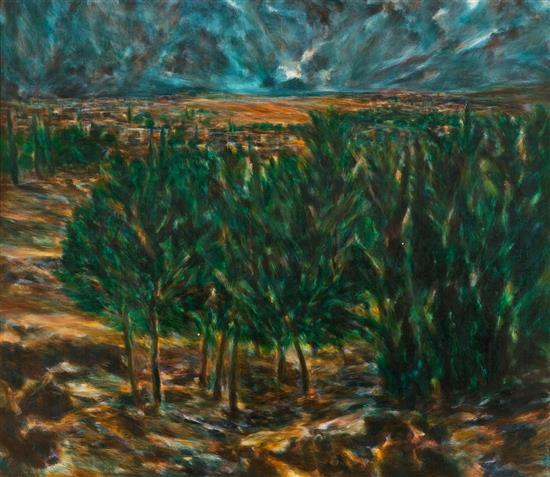 Shaul Schatz b.1944 (Israeli) Landscape, 1990 oil on canvas