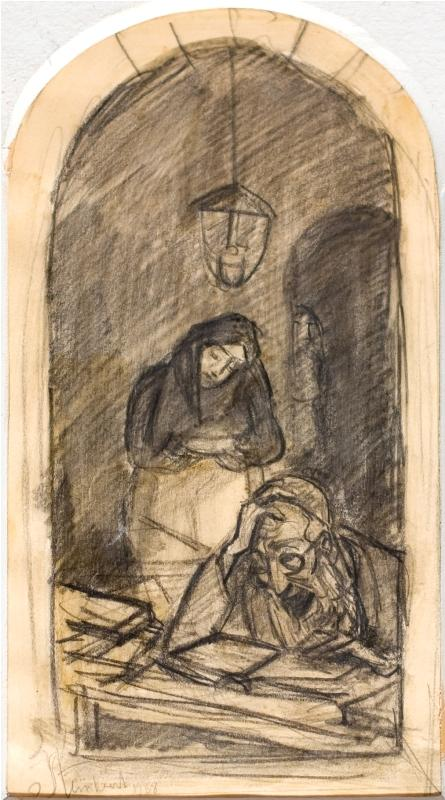 Jakob Steinhardt 1887-1968 (Israeli) Learning, 1938 pencil on paper