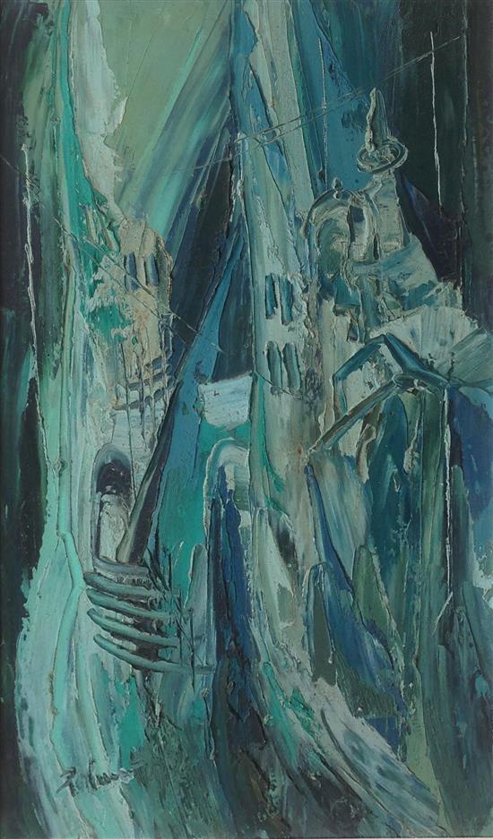 Zoltan Pearlmutter 1922-2002 (American, Romanian) Jerusalem oil on canvas