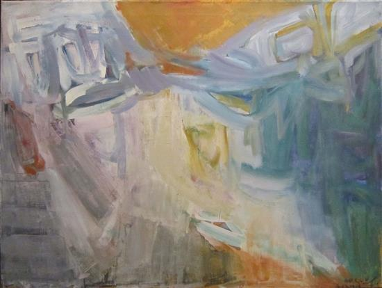 Michael Argov 1920-1982 (Israeli) Abstract, 1964 oil on canvas