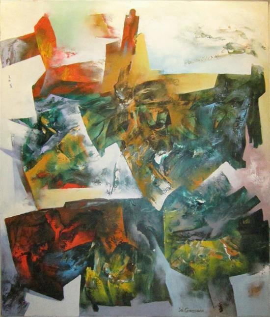Eduard Grossman b. 1946 (Russian, Israeli) Untitled oil on canvas