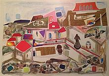 Tzila Neumann 1911-1984 (Israeli) Untitled collage and mixed media on paper