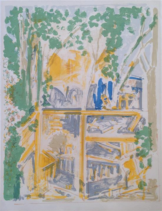 Liliane Klapisch b.1933 (Israeli) Landscape lithograph