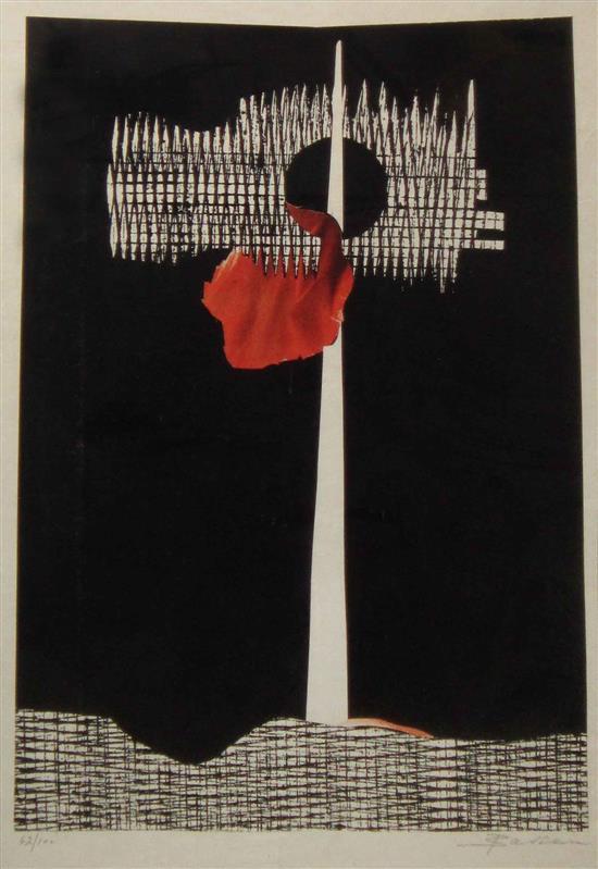 Eliassaf Barsuk 1942-2016 (Israeli) Untitled lithograph
