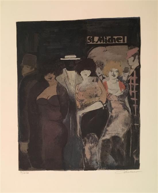 David Schneuer 1905-1988 (Israeli) St. Michel lithograph