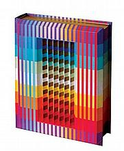 Yaacov Agam b.1928 (Israeli) Pentateuch (The Five Books of Moses), 1992 polymorph on the cover of book in a plexiglass box, edition...