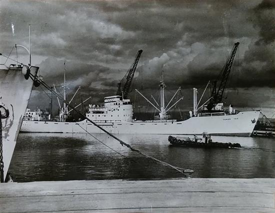 Boris Carmi 1914 - 2002 (Russian, Israeli) Ship original photograph
