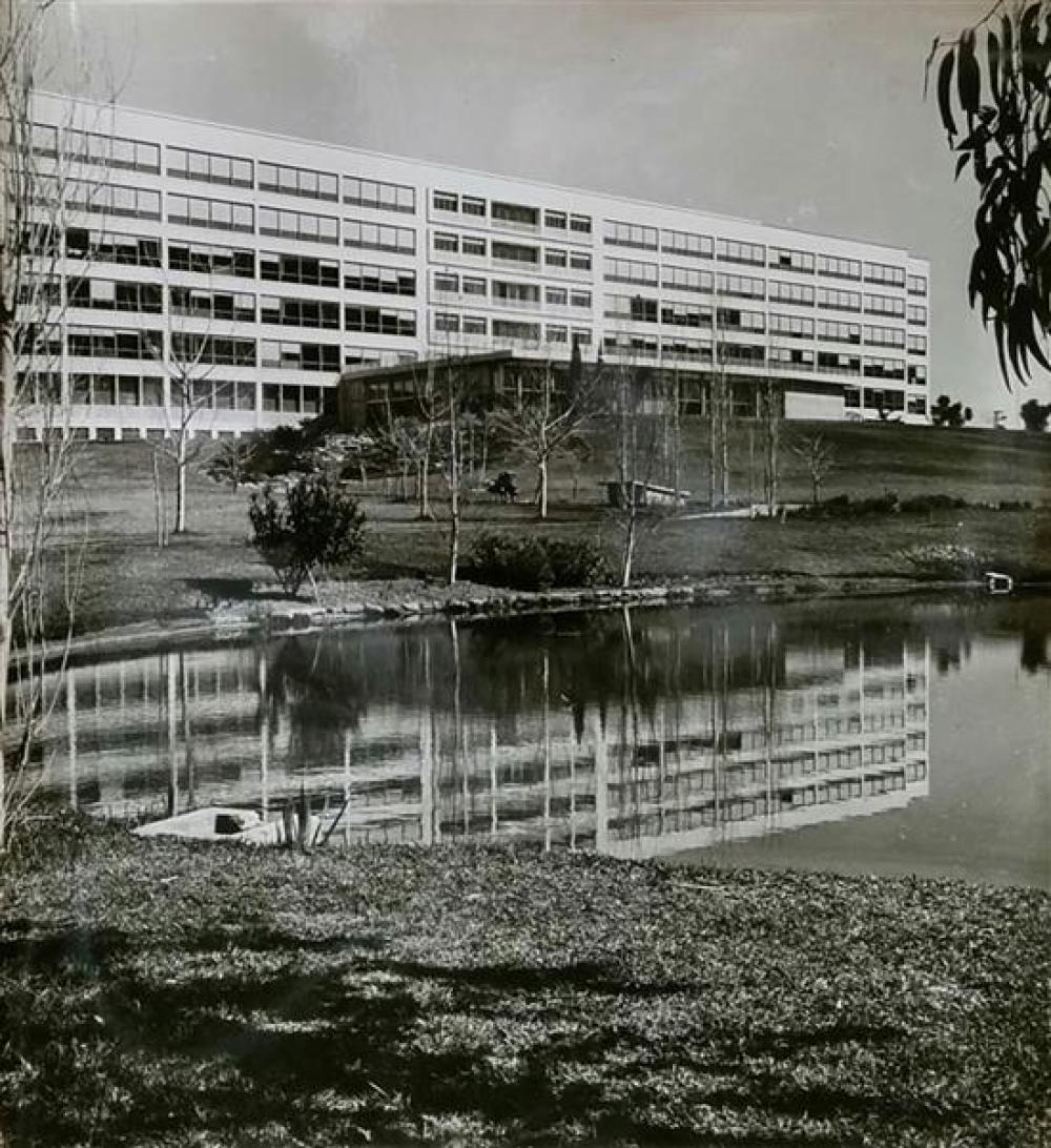 Boris Carmi 1914 - 2002 (Russian, Israeli) Unidentified building, 1960's original photograph