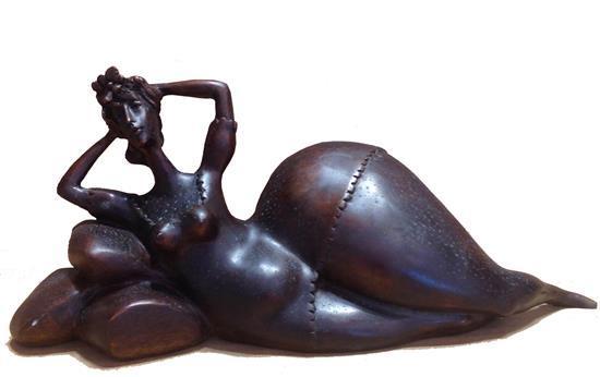 Benny (Benyamin) Levy b.1940 (Israeli) Reclining woman bronze