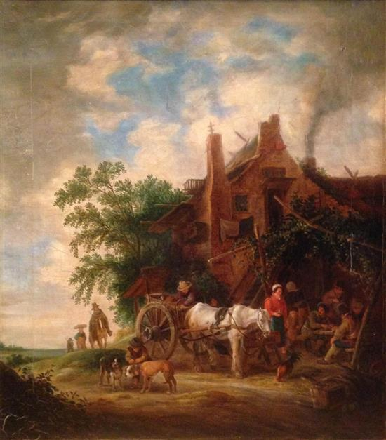 Flemish School Late 19th century Rural scene oil on canvas