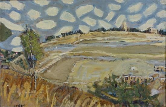 **Leon Engelsberg 1908-1998 (Israeli) Abu Tor, Jerusalem, 1964 oil on canvas