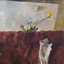 **Sigal Tsabari b.1966 (Israeli) A Flower for Antonio Lopez Garcia, 1995 oil on canvas