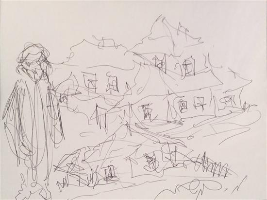Moshe Bernstein 1920-2006 (Polish) Lot includes 3 drawings pen on paper