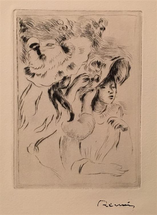 Pierre-Auguste Renoir 1841-1919 (France) Le Chapeau Epinglי (2e planche), 1894 etching