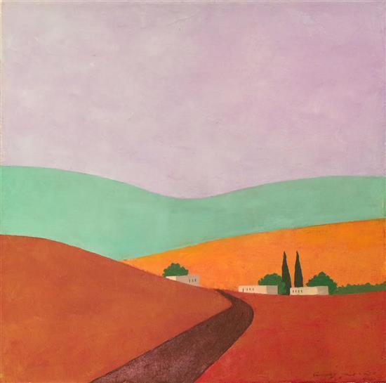 Itzu Rimmer b.1948 (Israeli) Tzafririm, 2016 oil on canvas
