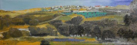 **Oded Feingersh b.1938 (Israeli) Jerusalem oil on canvas