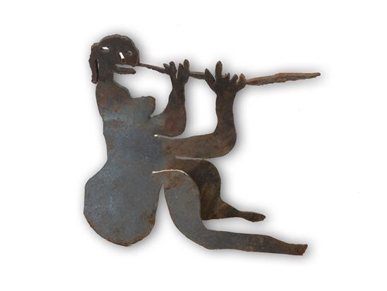 Menashe Kadishman 1932-2015 (Israeli) Flutist iron cut