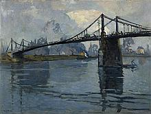 **Robert Antoine Pinchon 1886-1943 (French) Bridge over the river oil on canvas