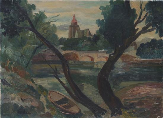 **Adolphe Feder 1886-1943 (French) Landscape oil on canvas
