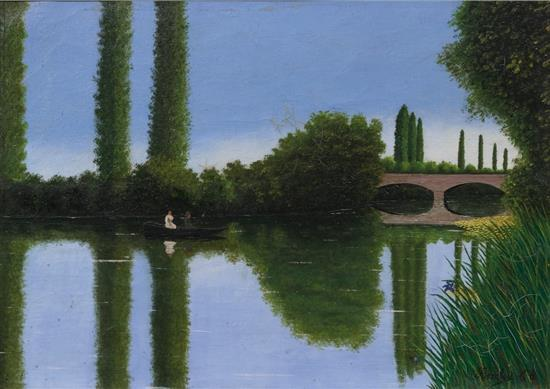 **Camille Bombois 1883-1970 (French) On the river, 1920-25 oil on canvas