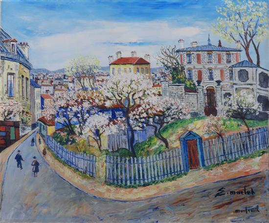 **Elisée Maclet 1881-1962 (French) Montreuil, c.1955 oil on canvas
