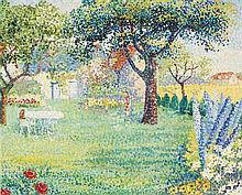 **Yvonne Canu 1921-2008 (French) Garden oil on canvas
