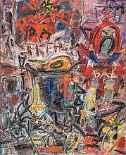 **Gen Paul 1895-1975 (French) Le Moulin Rouge oil on canvas