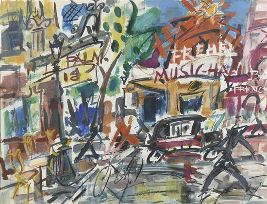 **Gen Paul 1895-1975 (French) Le Moulin Rouge gouache on paper