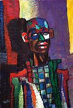 Isaac Pailes 1895-1978 (French, Ukrainian) Clown oil on canvas