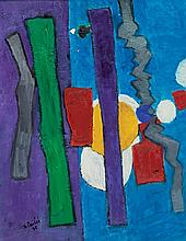 Isaac Pailes 1895-1978 (Ukrainian, French) Composition, 1971 oil on canvas