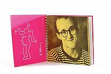 **Keith Haring 1958-1990 (American) Woman marker on the exhibition catalogue from the Tony Shafrazi Gallery, New York, 1982