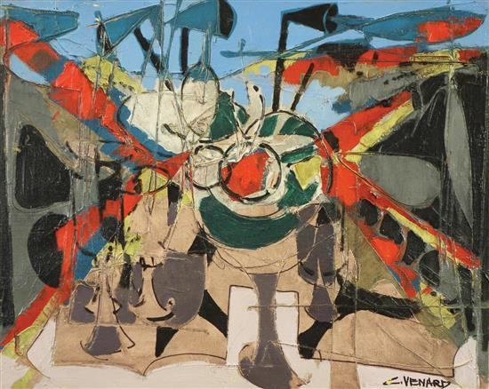 **Claude Venard 1913-1999 (French) Still life oil on canvas