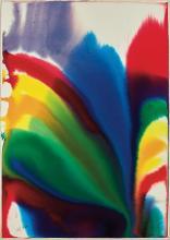 **Paul Jenkins 1923-2012 (American) Phenomena Suzanne's Locks, 1985 watercolor on paper