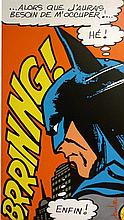 **Jean-Michel Gnidzaz b.1947 (French) Batman acrylic on canvas