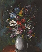 **Maurice de Vlaminck 1876-1958 (French) Flower bouquet oil on canvas