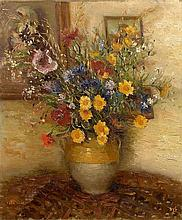 **Marcel Dyf 1899-1985 (French) Fleurs des champs au pavot mauve, 1930 oil on canvas
