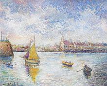 **Hugues Claude Pissarro b.1935 (French) The Doris race at Granville oil on canvas