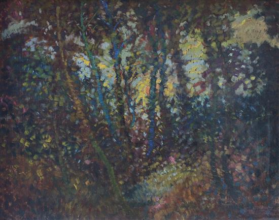 French Impressionist School 20th century Landscape oil on board