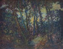 French Impressionist School 20th century Landscape oil on board