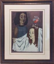Sima Miron 1902-1999 (Israeli) Bride, 1970 woodcut