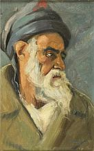 Hermann Struck 1876-1944 (Israeli) Portrait of elderly Jew, 1930 oil on canvas