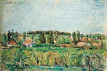 Menachem Shemi 1897-1951 (Israeli) Binyamina, 1939 (Recto); Maayan Quarter, Haifa (Verso) oil on canvas