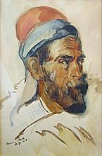 Hermann Struck 1876-1944 (Israeli) Portrait, 1928 watercolor on paper