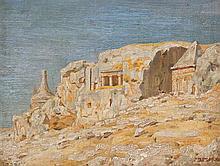 Shmuel Charuvi 1897-1965 (Israeli) Yad Avshalom oil on canvasboard