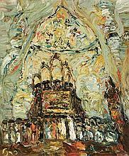 **Yitzhak Frenkel Frenel 1899-1981 (Israeli) Wedding oil on canvas