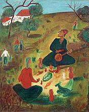 Moshe Castel 1909-1991 (Israeli) Dejuner sur l'herbe, 1928 oil on canvas