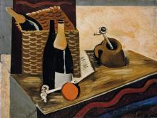 **Louis Robert Arthur Latapie 1891-1972 (French) Still life with two pipes, 1920's oil on panel