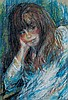 Huvy b.1927 (Israeli) Ricky pastel crayons on paper, Elisha (Huvy} Ahuva, Click for value